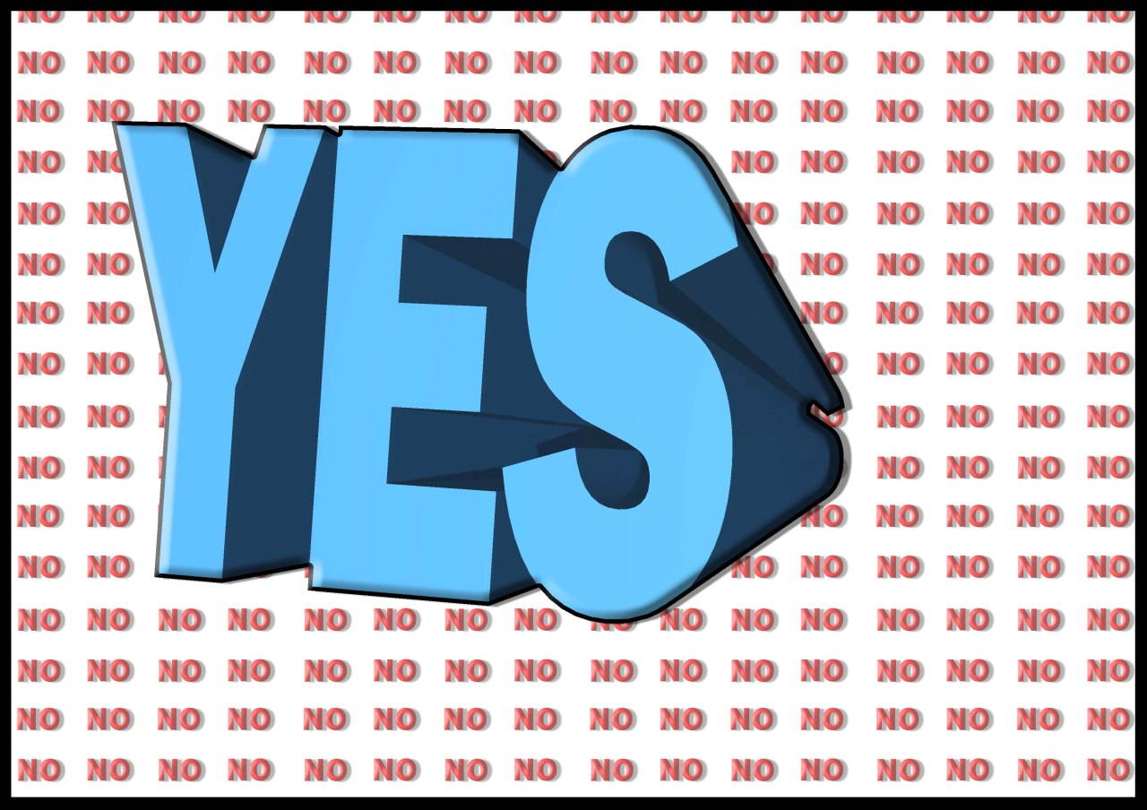 The bigger YES….