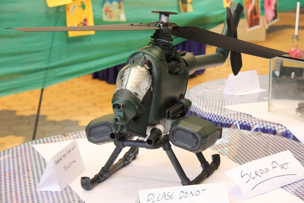 Scrap Art – Helicopter